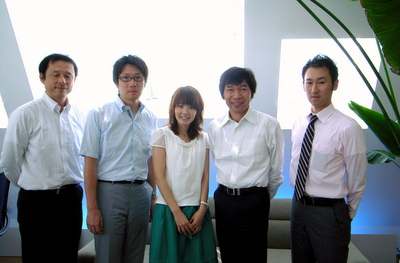 左からGreen TV萩谷さん、片岡、松田、Green TV水野さん、宮下